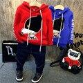Fabricantes que vendem roupas infantis Adidas Meninos calça jeans grossa de Lã Com Capuz engrossado AL260 B1126