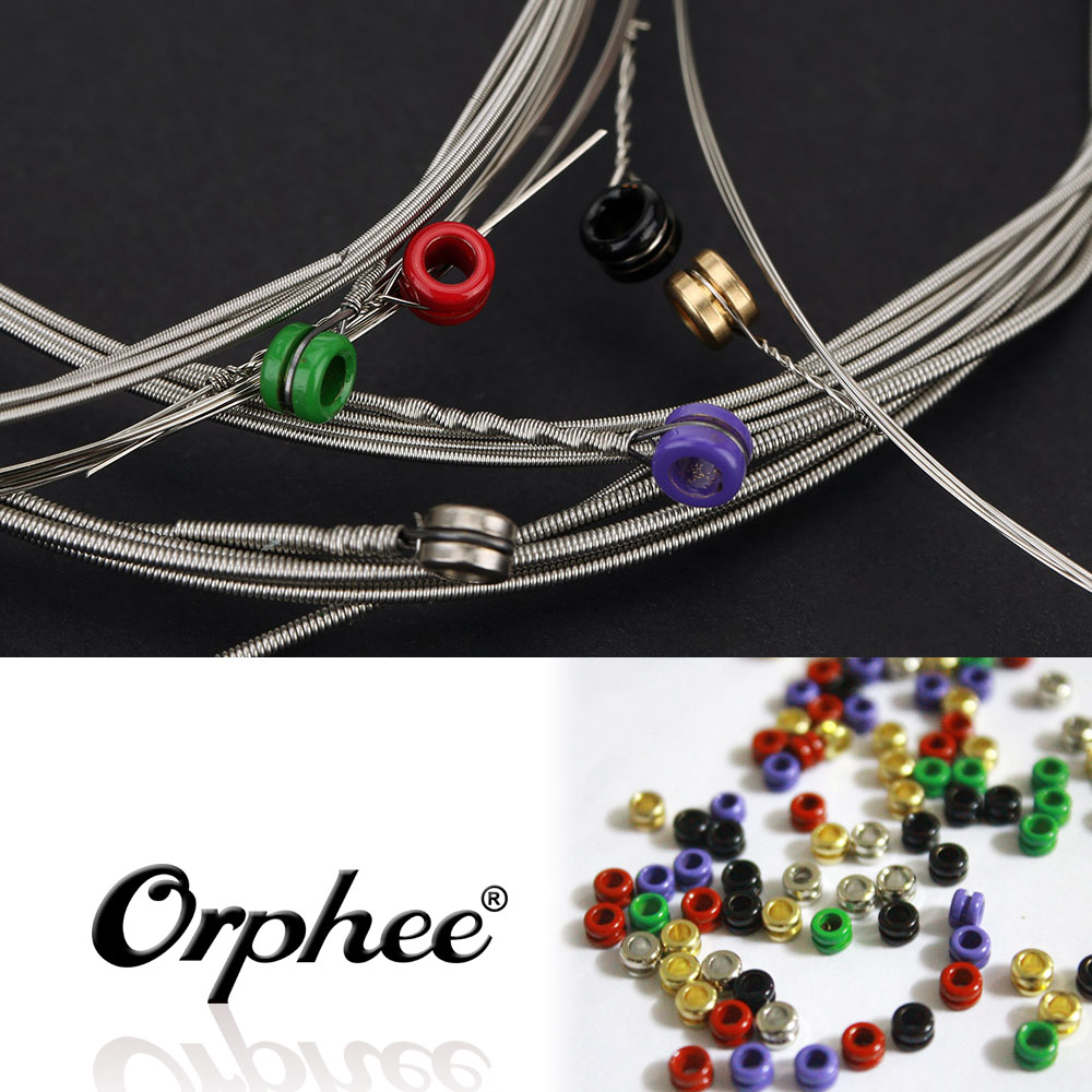 orphee 6pcs electric guitar string set acoustic guitar strings nickel alloy medium tension. Black Bedroom Furniture Sets. Home Design Ideas