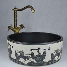 Ceramic wash basin counter desktop art sanitary ware