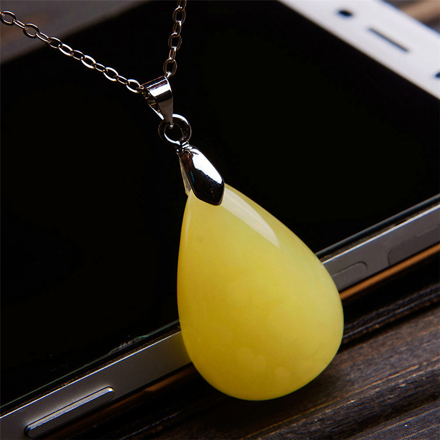 Genuine Yellow Natural Stone Pendant Jewelry For Women Necklace 28*19*8mm Waterdrop Crystal Bead Pendant Just OneGenuine Yellow Natural Stone Pendant Jewelry For Women Necklace 28*19*8mm Waterdrop Crystal Bead Pendant Just One