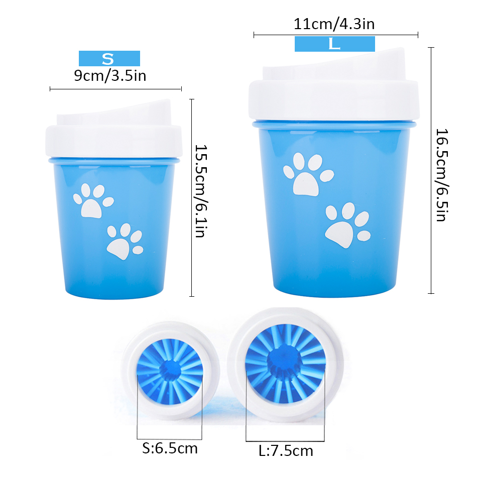 HTB1tUyQaPnuK1RkSmFPq6AuzFXaX - Dirty Dog paw cleaner Soft Silicone Combs Portable Pet Foot Washer Cup