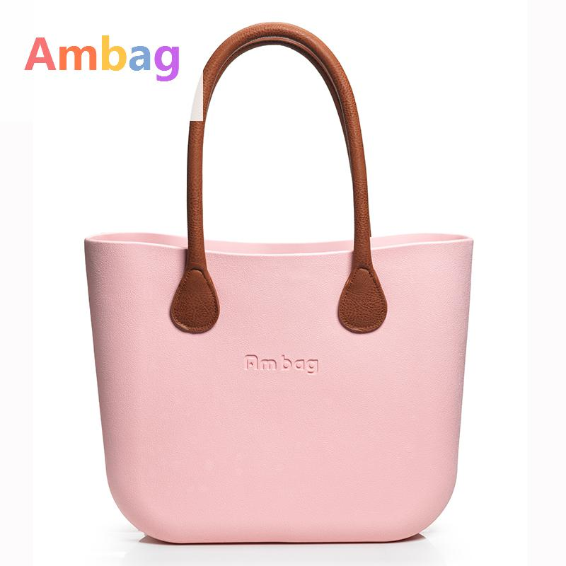 New Color Ambag bags Long / short handle selection Big bag Pink Classic Diy Women Bags Shoulder Totes Handbag Eva Silicon beach pink solid color off shoulder crop bodycon sweaters vests