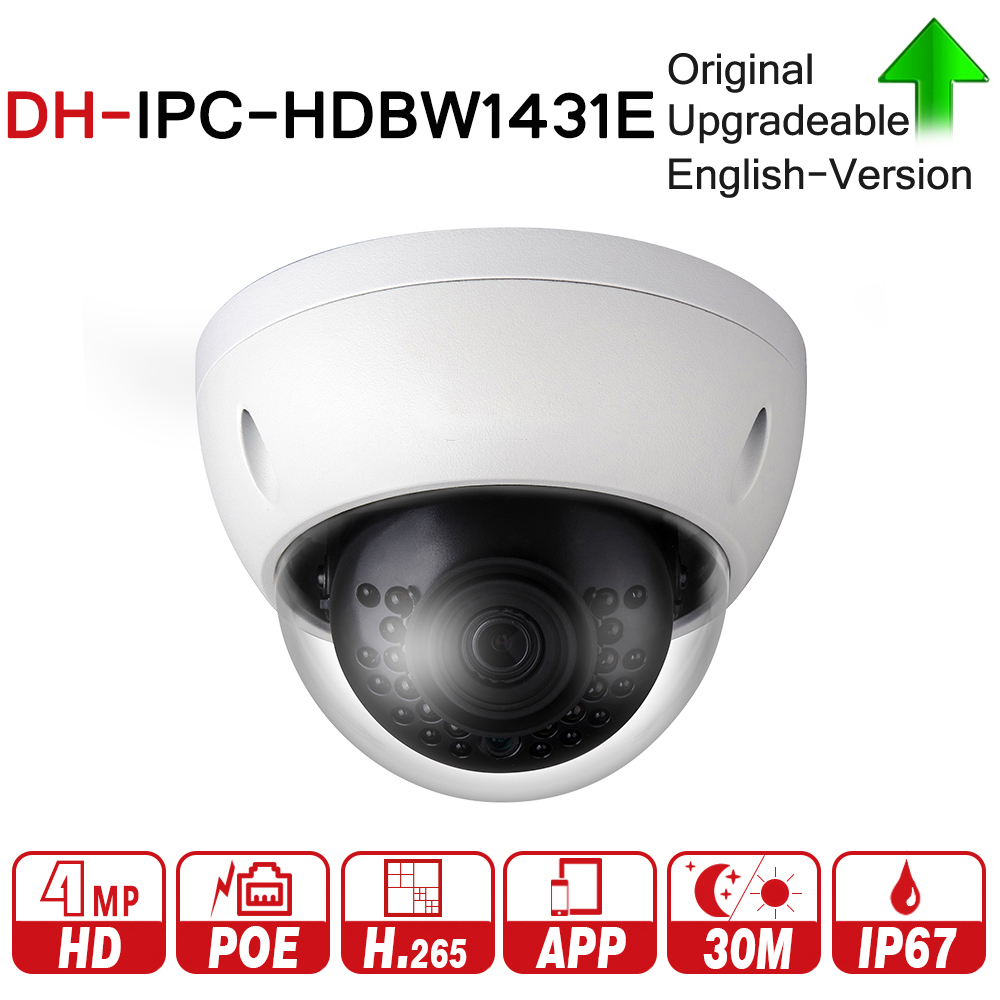 DH IPC-HDBW1431E с логотипом оригинальный 4MP сети IP Камера Поддержка IK10 IP67 Водонепроницаемый с POE ИК диапазон 30 М мини купол Камера