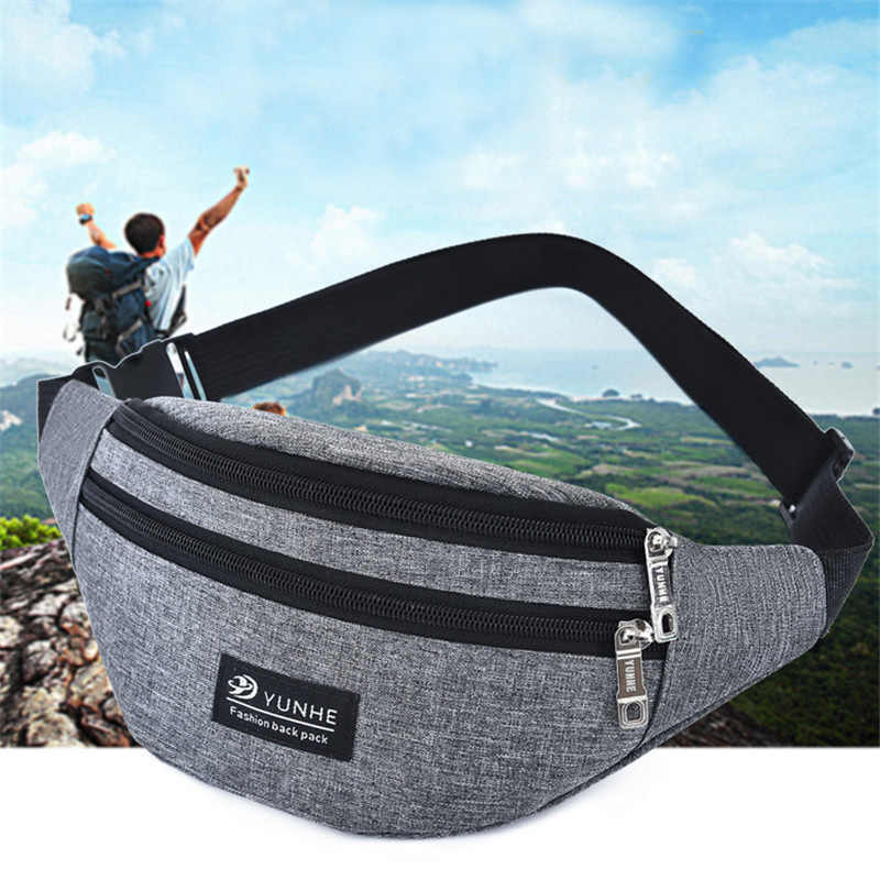 NIBESSER Fashion 2019   Women Men Waist Bag Colorful Unisex Waistbag Belt Bag Mobile Phone Zipper Pouch Packs Belt