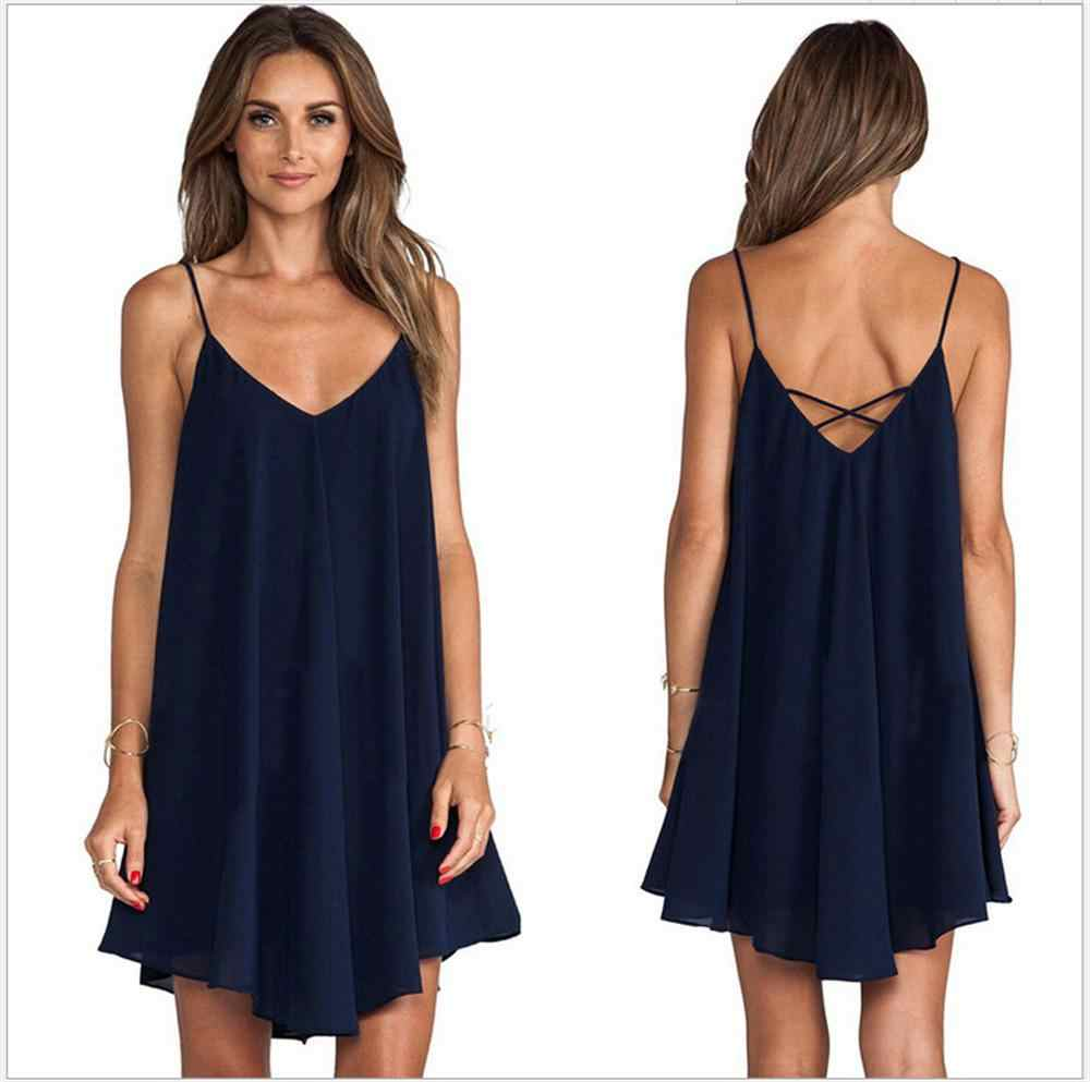 Summer Women Dress New Spring Sexy Beach Dress Female O-neck Sleeveless Sling Dresses For Women Fashion Casual Colorful vestidos