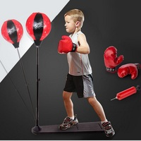 Kid Boxing Standing Punching Bag Children Fitness Punch Ball Speed Bag Boxing Set With Boxing Gloves Become Boxing Champion