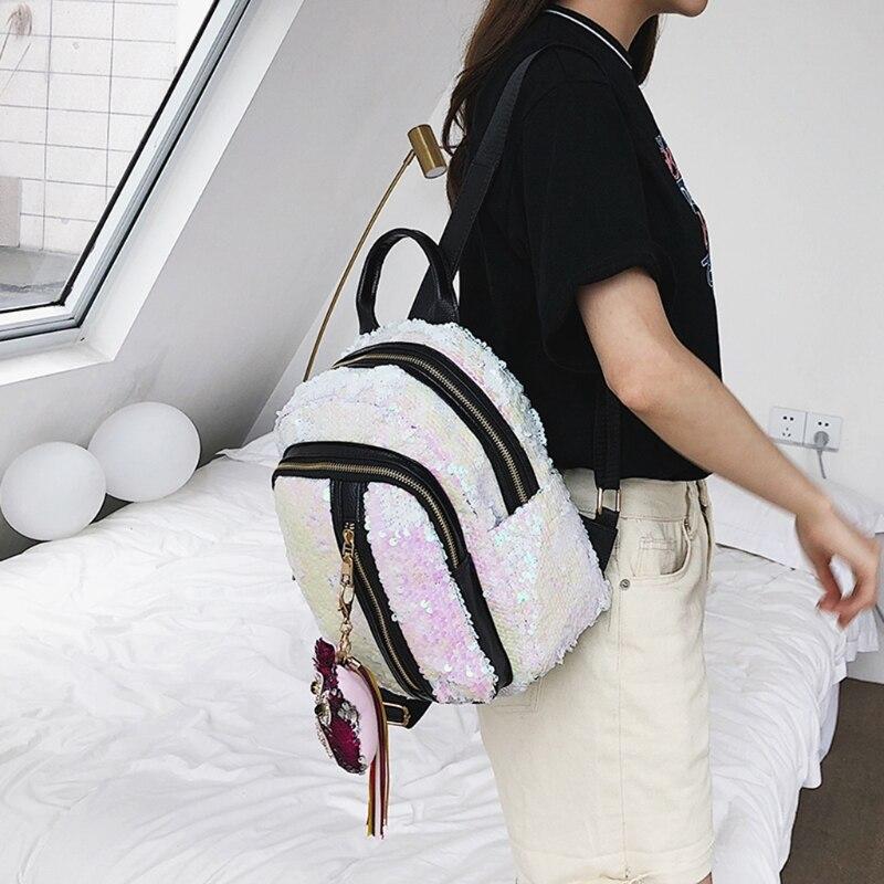 THINKTHENDO Women Girls Sequins Mini Backpack for 2018 Travel School Backpack Rucksack Bookbag Shoulder Bags for Girl 5