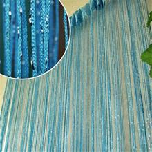 Modern 13 Colors Vogue Curtains Silver Silk Tassel String 200cm x 100cm