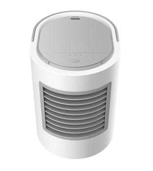 Elliptical water-cooled USB fan with cooling and moisturizing night light function