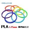 Venta caliente DIY 10 M 3D Filamento Filamento PLA 1.75mm 33 Colores para la Pluma de Impresión 3D Filamento Impresora 3D Cepillo de línea Envío Gratis