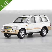 1:18 Toyota Land Cruiser LC100 2009 SUV Rare Alloy Diecast Toy Car Model Original Box Free Shipping(China)