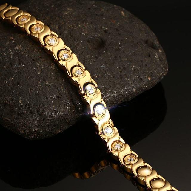 Zircon Stone Hematite Magnetic Health Care Hologram Bracelet
