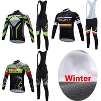 Men S 2017 China Pro Team Winter Thermal Fleece Cycling Clothing Bib Pants Sets Male Mountain