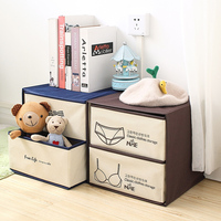 The bra underwear boxes The double drawer store content box Non woven clothing bin