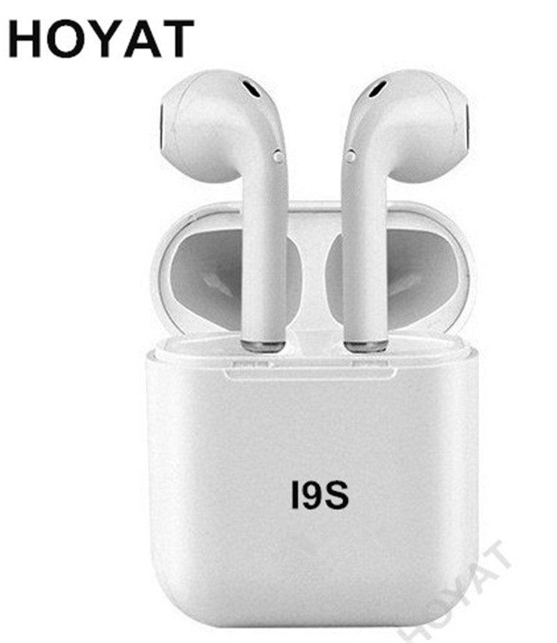 HOYAT I9S ifans TWS Bluetooth inear Earbuds bass Music Wireless Headsets Ear Double Ear Buds Earphones with mic For iphone X magnetic switch earphones sports running wireless earbuds bass bluetooth headsets in ear with mic for running fitness exercise