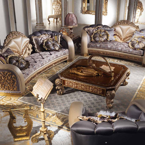 European style luxury imperial flower decorative living - Best quality living room furniture ...