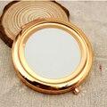 1 unid Muchachas de Mini espejo de Maquillaje Espejo de Bolsillo Compacto Espejos Portátiles Lados Dobles de Doble Estructura de Acero Inoxidable de Maquillaje Cosmético
