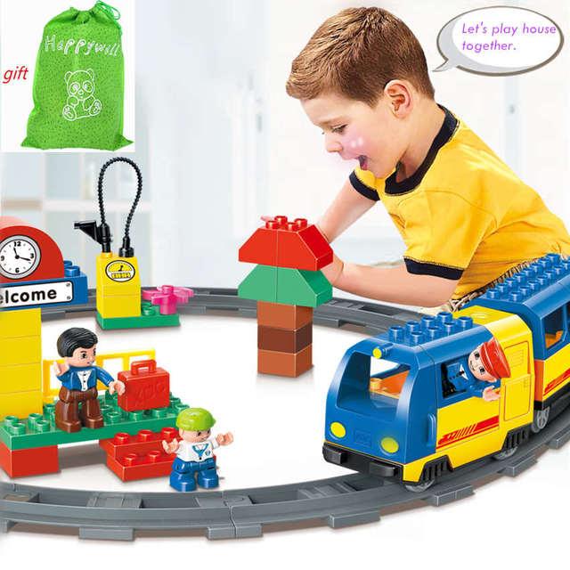 Big Boy Train Toys : Happywill hm pcs original track electric train