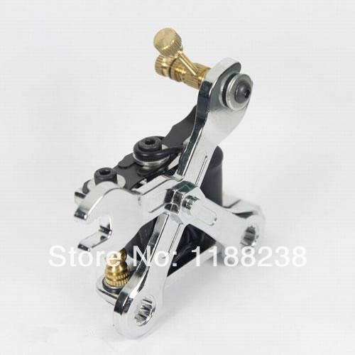 1PC Professional Manual Tattoo Gun Cast Iron Tattoo Machine for Liner Shader Tattoo Machine Silver