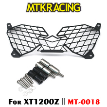 MTKRACING For YAMAHA XT1200Z XT 1200 Z Super Tenere 2010-2018 Motorcycle modification Headlight Grille Guard Cover Protector цена