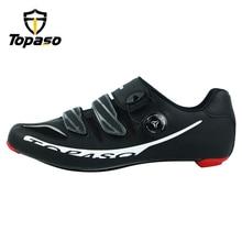 Topaso Brand Carbon Fiber Road Bike Cycling Shoes Sneakers Men Zapatillas Ciclismo Carretera Deportivas Hombre Sapatilha Estrada цена