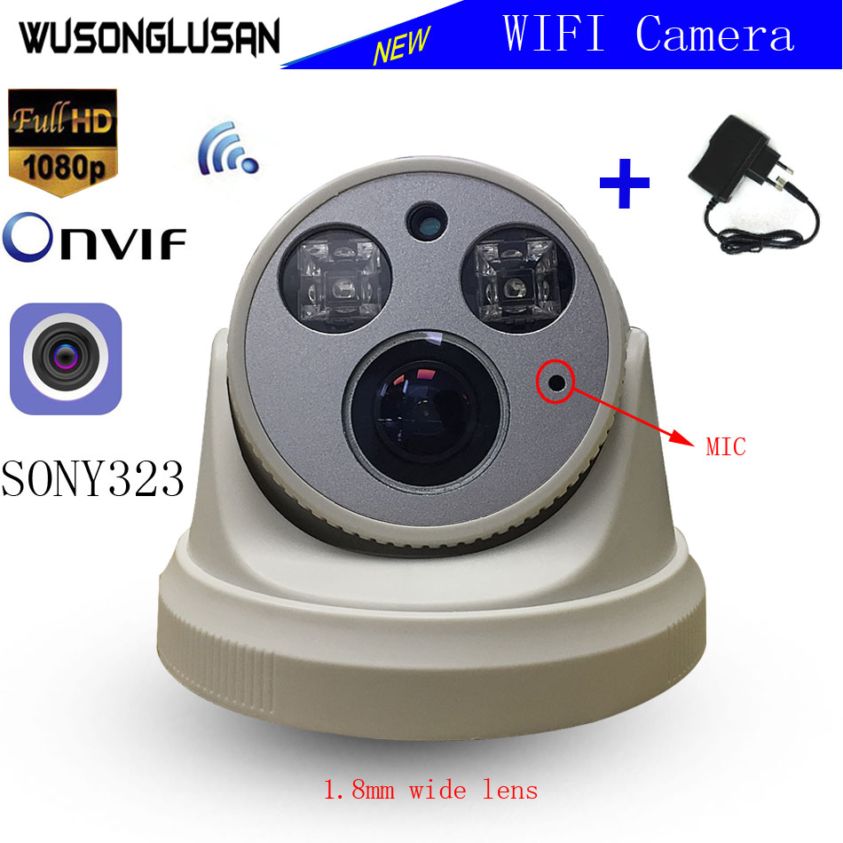 Home Wifi IP Security Monitor font b Wireless b font 720P 1080P SONY IMX323 Hi3518E Onvif