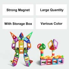 94PCS Model Building Blocks Magnetic Designer Toys Enlighten Plastic Educational Toys for Children Rated