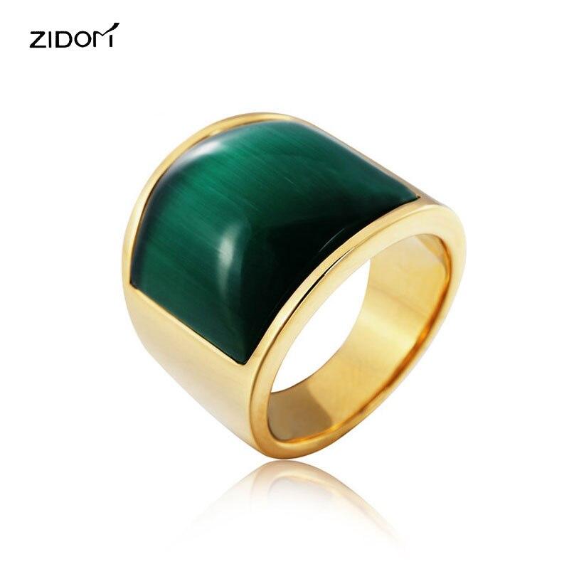 Aliexpress.com : Buy Gold color trendy simple big Opal Men