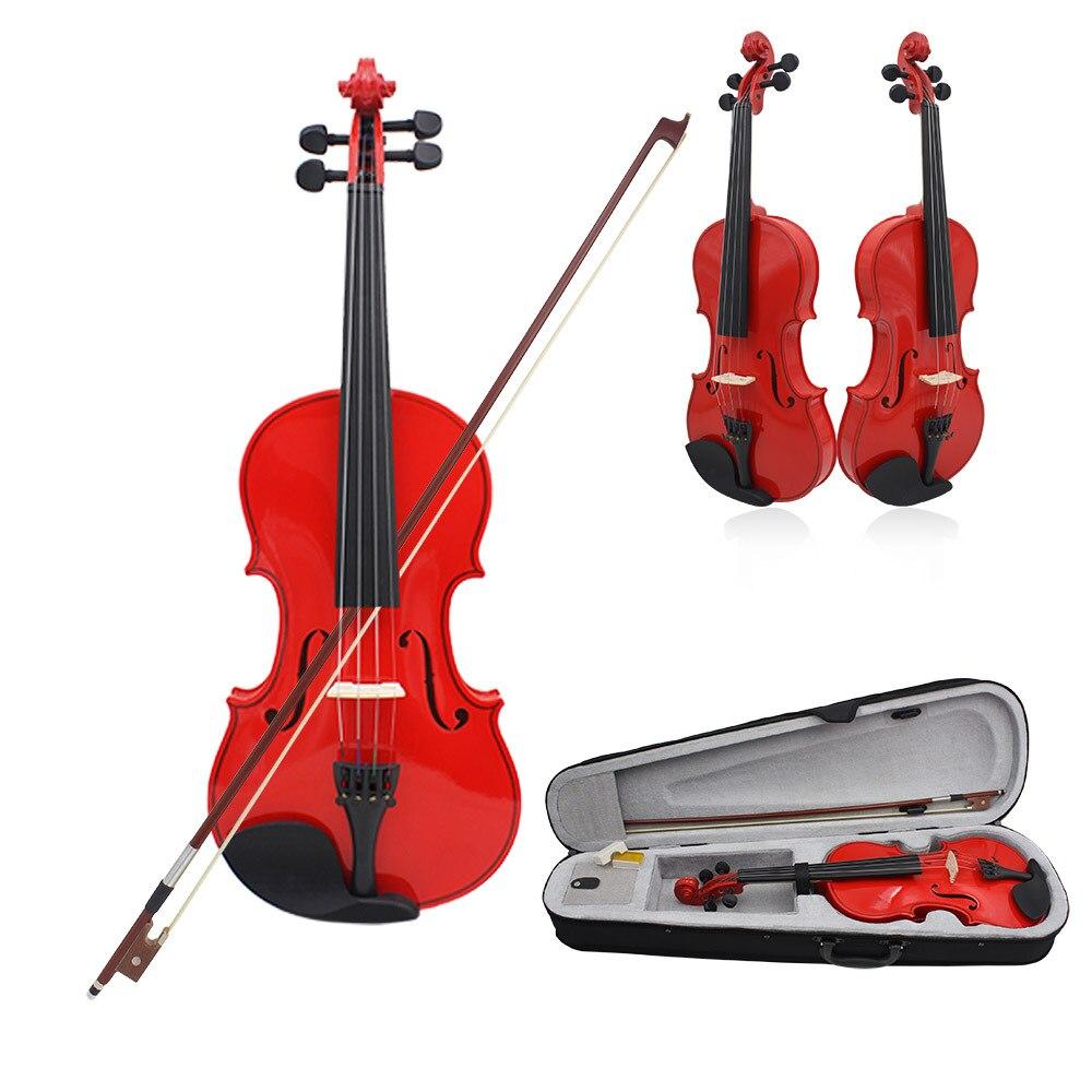Solid wood violin 4/4 adult student beginner red violino Professional Instruments violon case violin bow rosin AccessoriesSolid wood violin 4/4 adult student beginner red violino Professional Instruments violon case violin bow rosin Accessories