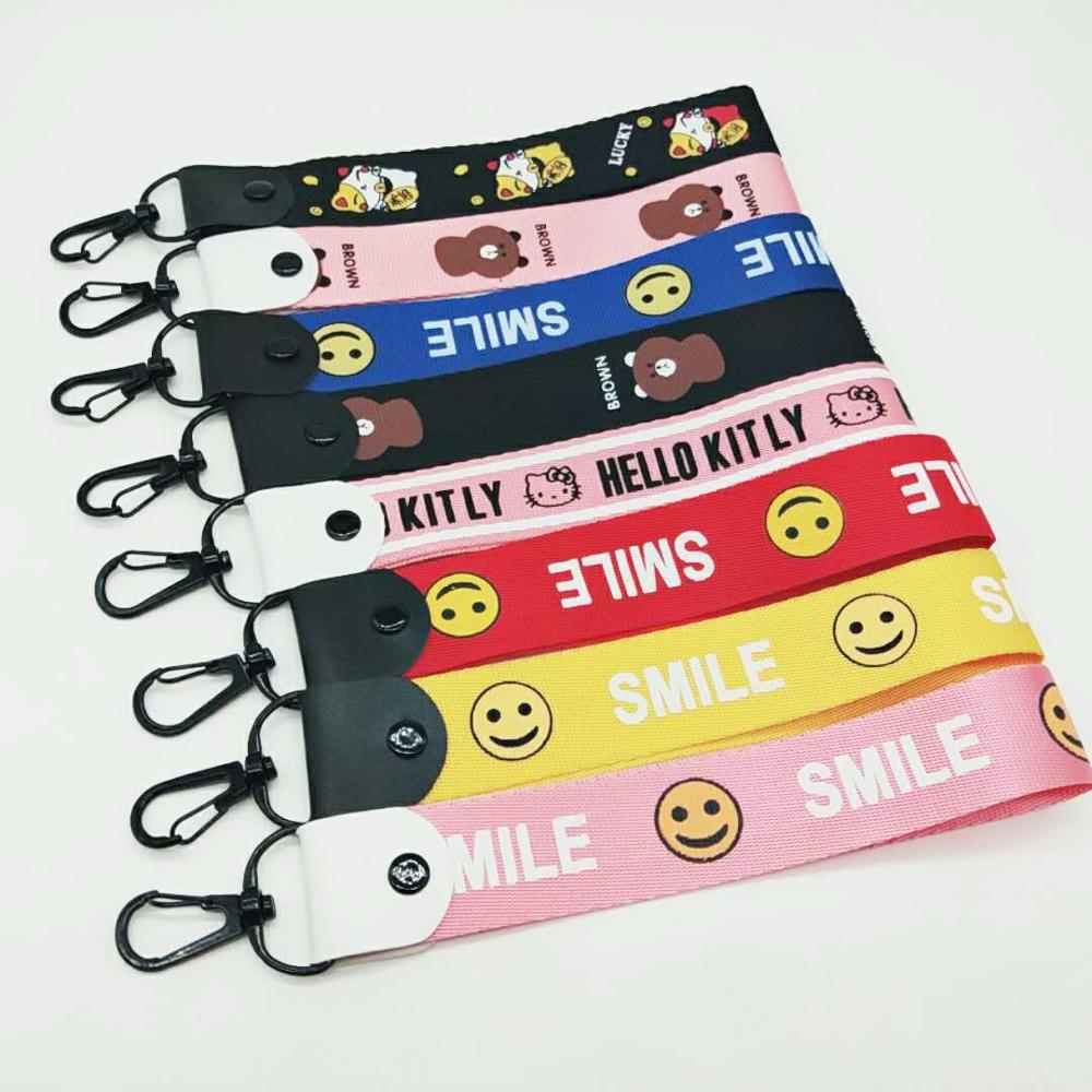 Cartoon Wrist With Smiley Face Keyring Woven Hanging Gift DIY Jewelry Hanging Accessories SMILE Key Chains #YY1708