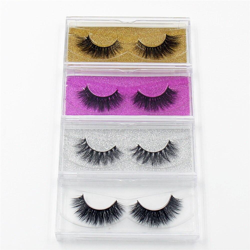 LEHUAMAO 100pairs 3D Mink Eyelashes Mink False Eyelashes Handmade Mink Hair Collection 3D Lashes 34 Style Glitter Packaging
