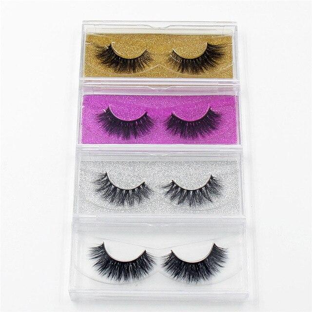 LEHUAMAO faux cils en vison 3D faits à la main, Collection de poils, 34 styles, emballage avec paillettes, 100 paires