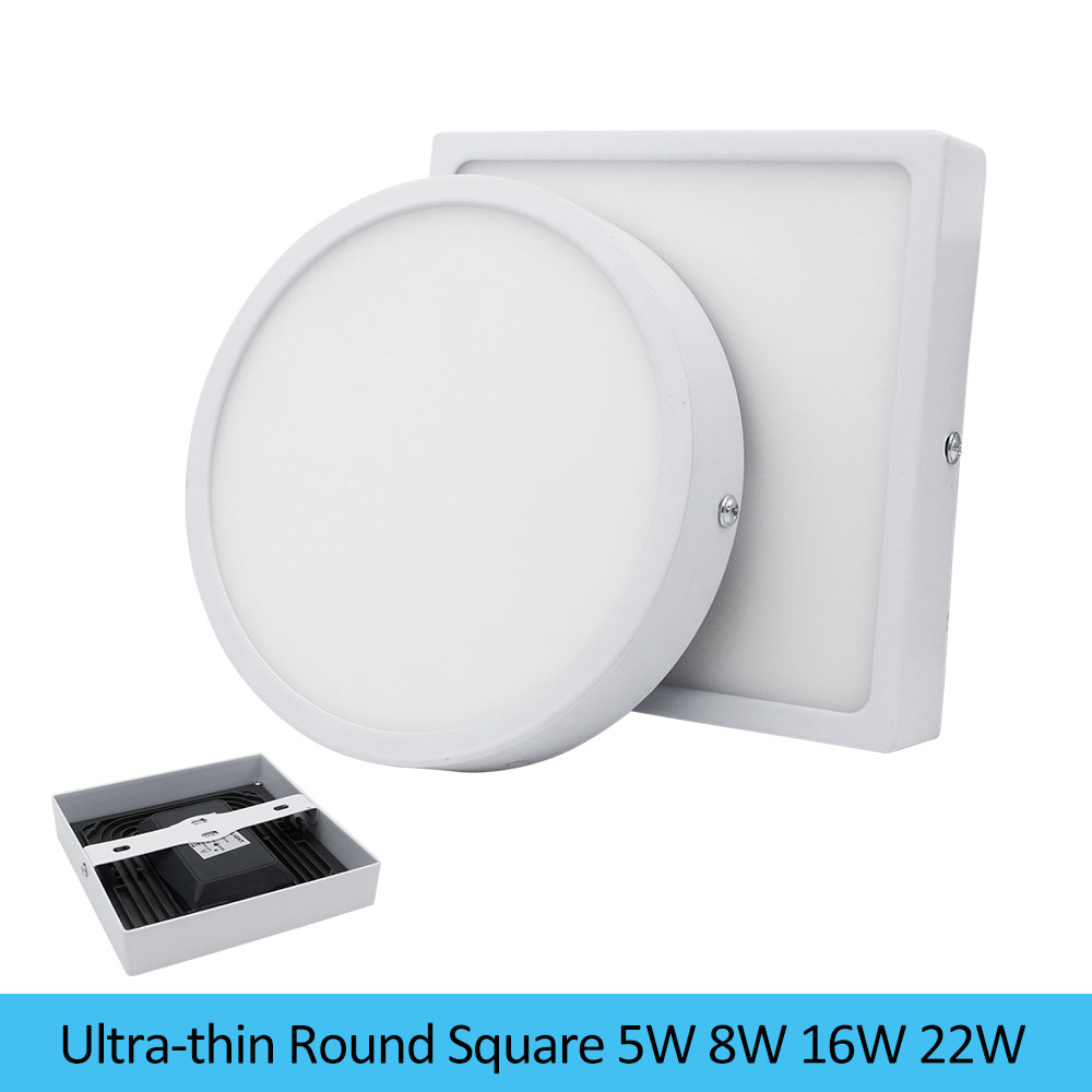 [DBF]Round Square 5W 8W 16W 22W 4014 SMD Surface Mounted LED Panel Light with Build-in Driver 110V/220V Ceiling Lamp Home Decor[DBF]Round Square 5W 8W 16W 22W 4014 SMD Surface Mounted LED Panel Light with Build-in Driver 110V/220V Ceiling Lamp Home Decor