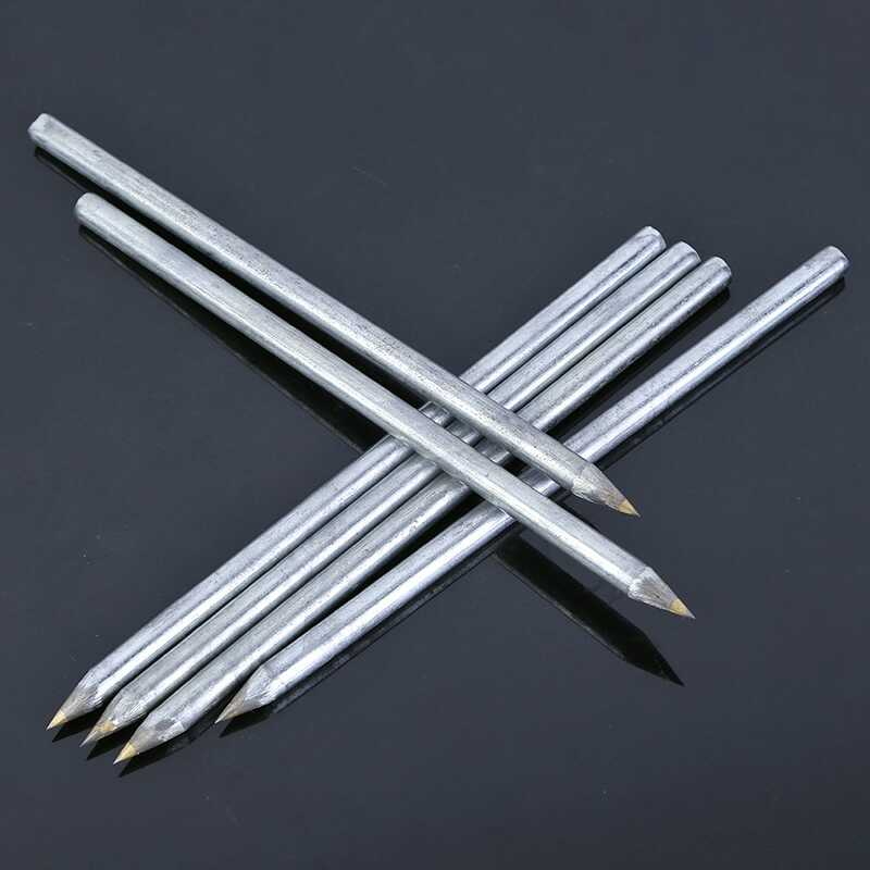 2pcs! Diamond Glass Cutter Tile Cutter Cutting Machine Carbide Scriber Hard Metal Lettering Pen Construction Tools