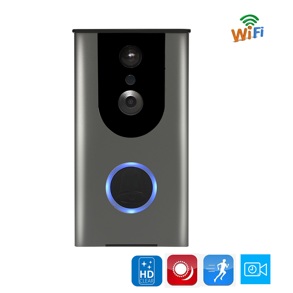 Free Shipping Wireless Wifi Video Doorbell Intercom Door phone Built in Battery Door Camera PIR IR Waterproof Wide View Angle