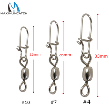 Maximumcatch 50Pcs Crane Fishing Swivel  With Good Secure Snap Dimension Four and Dimension 7# Fishing Sort out Field