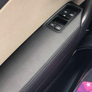 Image 3 - Only Hatchback Car Door Handle Armrest Panel Cover Microfiber Leather Trim For VW Polo 2011 2012 2013 2014 2015 2016