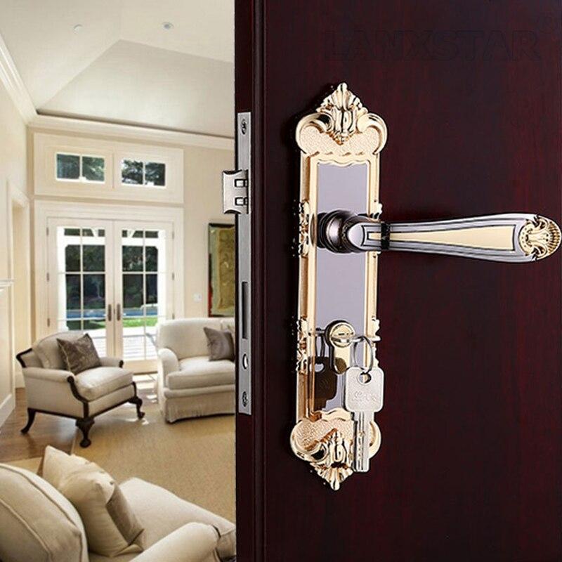 ФОТО Customized Boutique New Zinc Alloy Handle Lock Mute Lockset Hardware Accessories Room Decoration Materials Door Locks