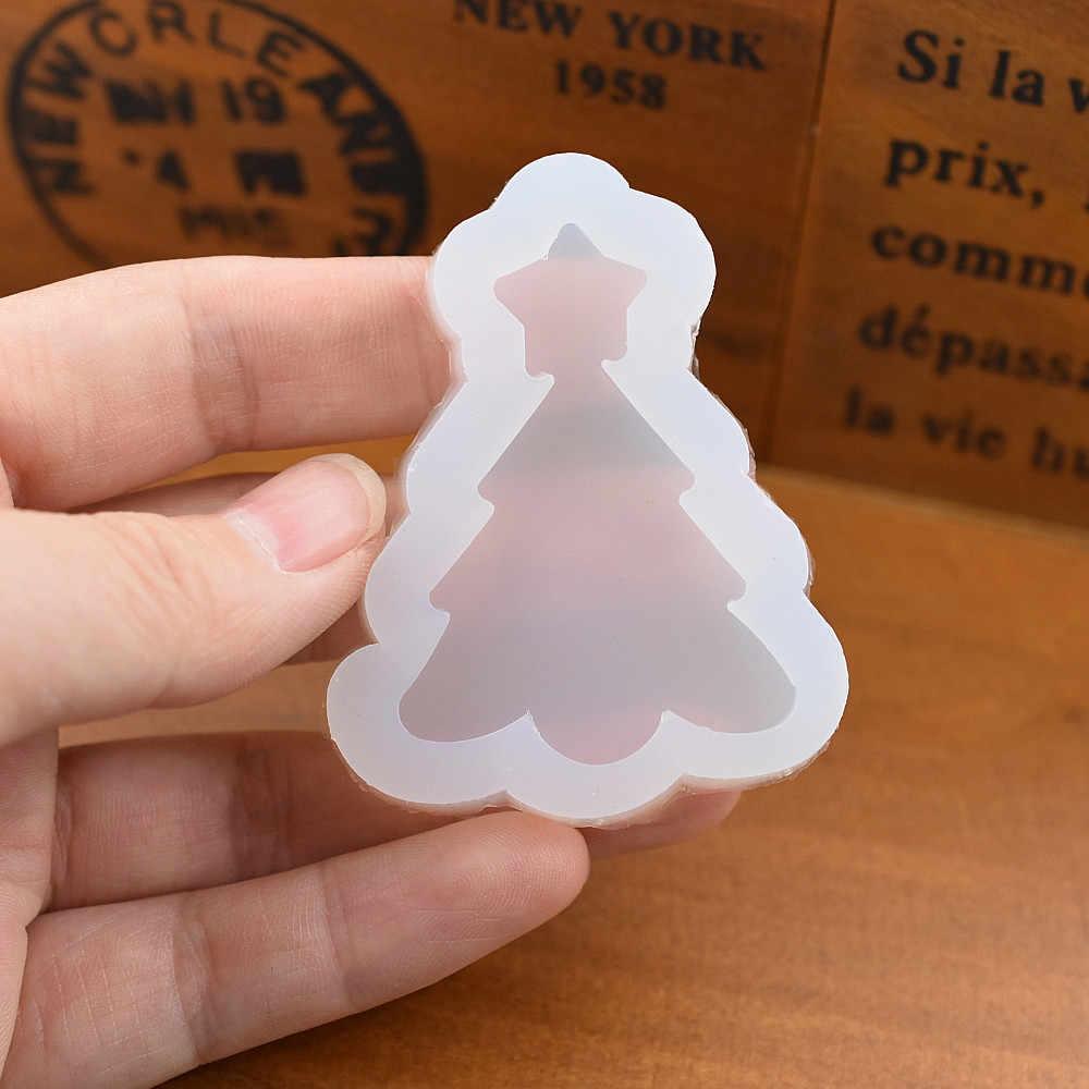 SNASAN قالب من السيليكون للمجوهرات شجرة عيد الميلاد الغزلان ثلج ندفة الثلج السحر قلادة الراتنج سيليكون قالب اليدوية أداة الايبوكسي