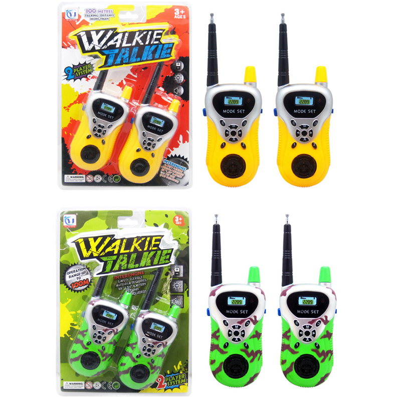 2Pcs Kids Talkies Handheld Toys Walkie Talkies Children Gifts Educational Games Funny Electronic ToysMni Toys Portable