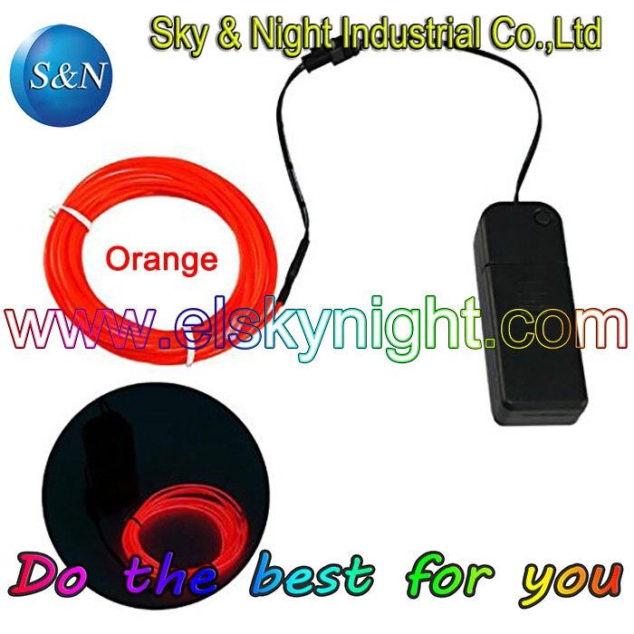 200 компл. 2,3 мм 3 м EL провод трубка веревка на батарейках гибкий неоновый свет для автомобиля Вечеринка свадебное украшение с контроллером