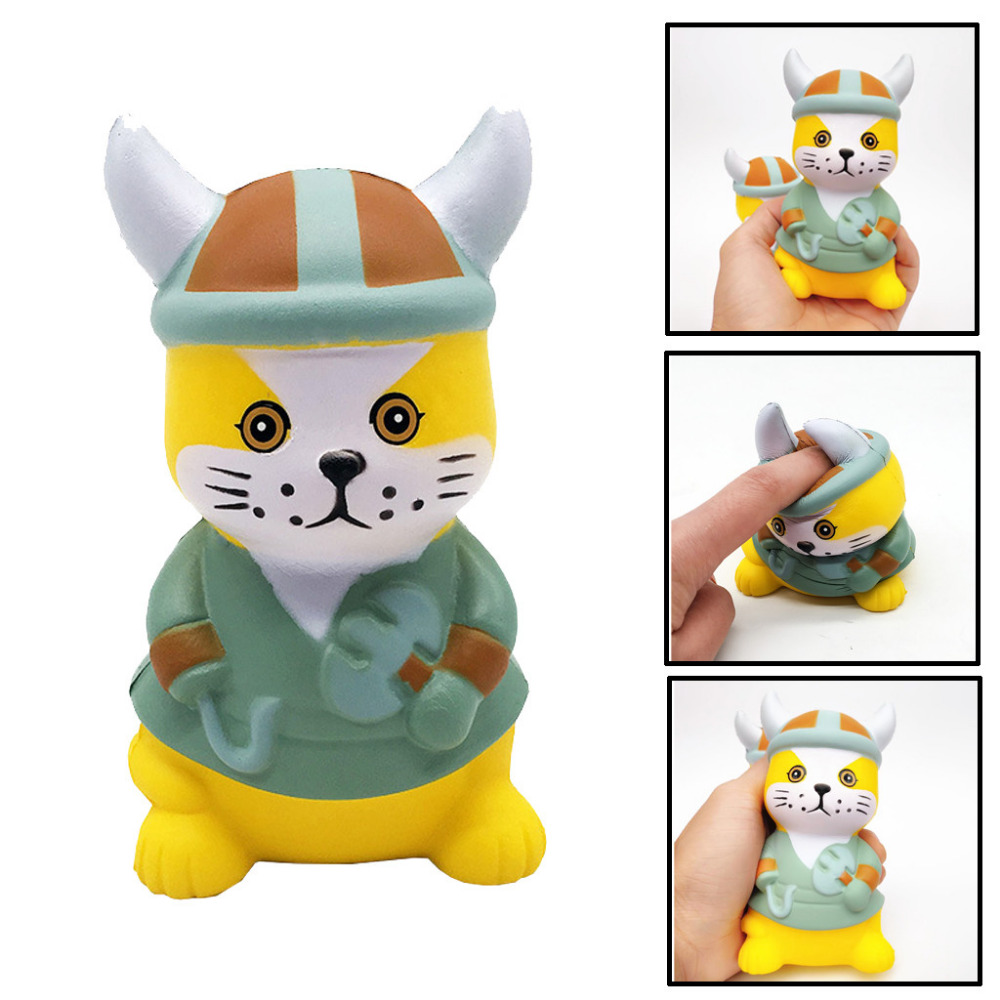 Squishy Mini Pirate Cat Super Slow Rising Squeeze Kawaii Kid Toy Stress Reliever Decor Jumbo Toy For Kid Birthday Gift K0228