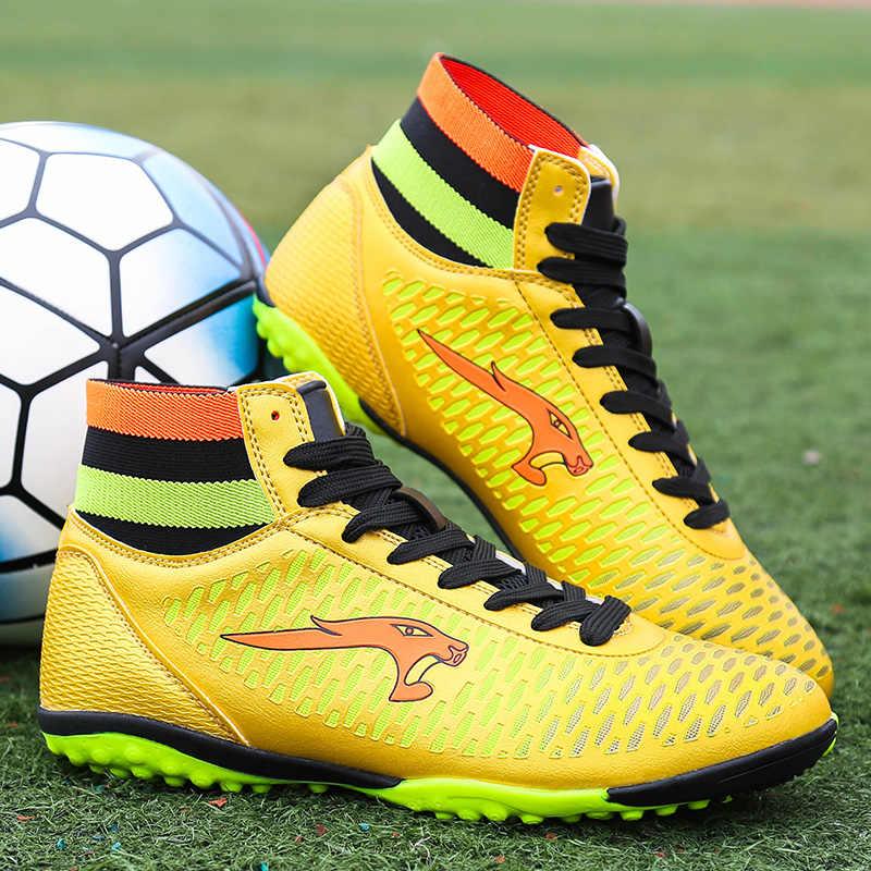 ... дети носок сапоги Футбол Обувь бутсы футзал мужчины оптовая футбольные  кеды футзалки для футбола кроссовки дітей 6dd3c55c632