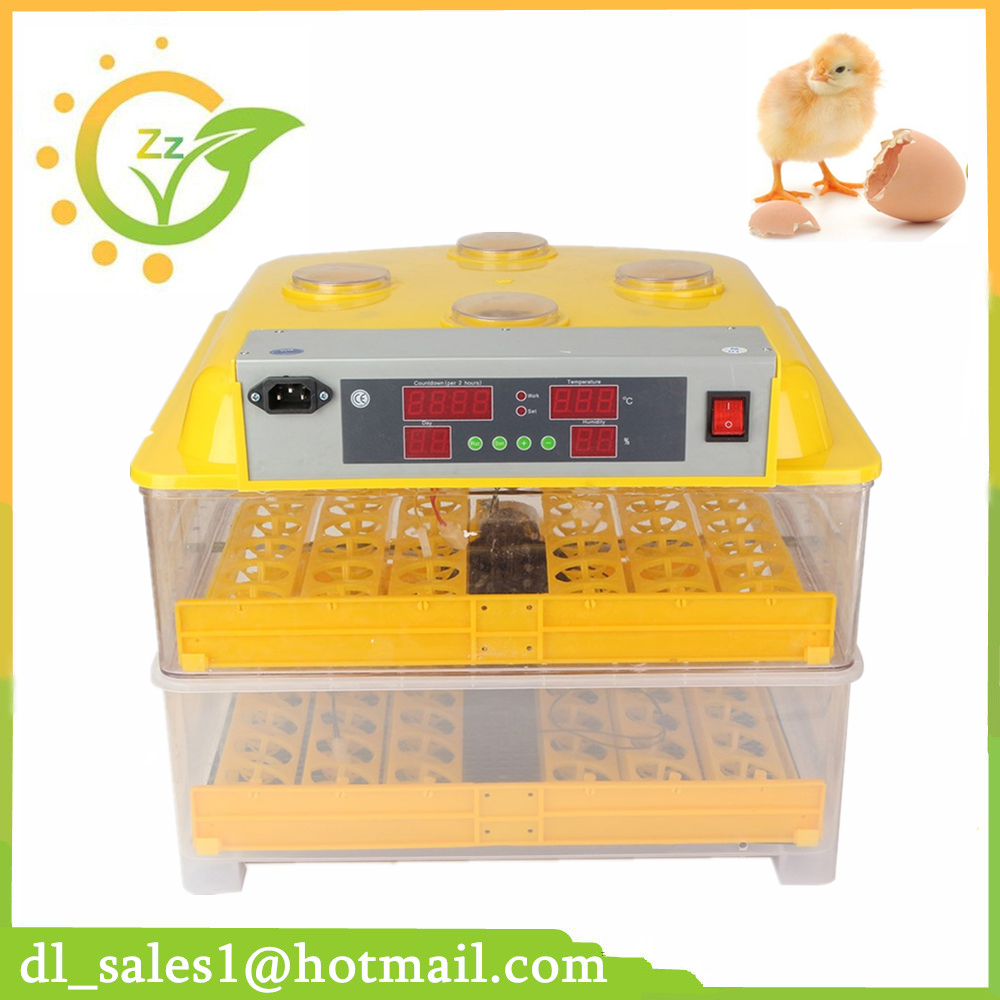 Newest Full Automatic Control Mini Egg Incubator Hatching Machine Automatic Poultry 96 Chicken Egg Incubator