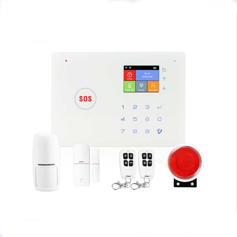 Wireless Smart Home Security Mobile APP Remote Control Rechargeable Battery Wifi GSM Alarm System Kit Support Two Way AudioWireless Smart Home Security Mobile APP Remote Control Rechargeable Battery Wifi GSM Alarm System Kit Support Two Way Audio
