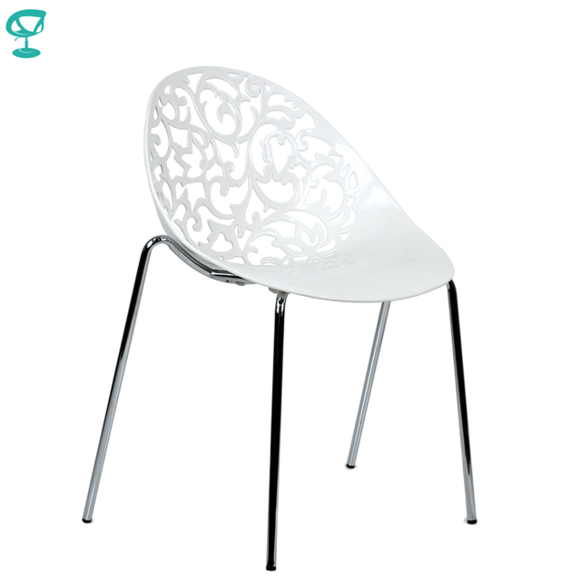 94972 Barneo N-223 Plastic Kitchen Interior Stool Chair for a Street Cafe Chair Kitchen Furniture White free shipping in Russia