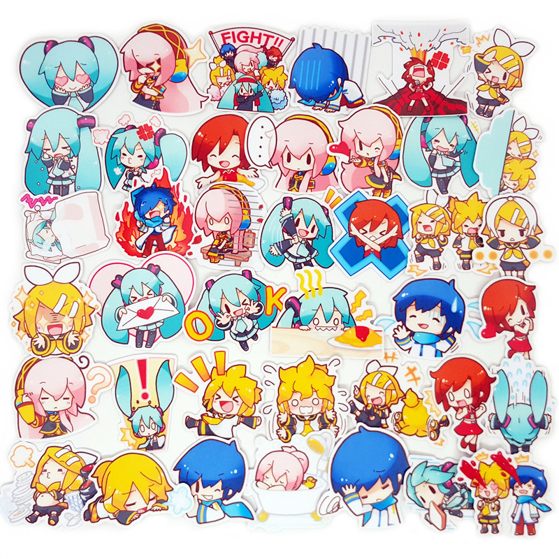 40 Pcs lot Anime Beauty Girl Scrapbooking Stickers Car Case Waterproof Laptop Bicycle Notebook Backpack waterproof Sticker in Stickers from Home Garden