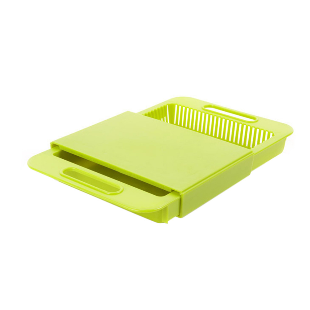 Telescopic Removable Food Chopping Cutting Board Wash Dish Draining Board Non Slipping Handle Food Slice Cut