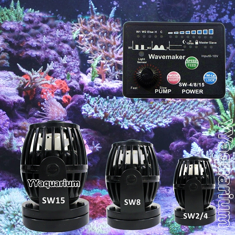 Jebao SW series Wavemaker مع وحدة تحكم ذكية Impeller Pump for Reef Marine Fish Ponds RW نسخة محدثة جديدة # SW2 SW4 SW8 SW15