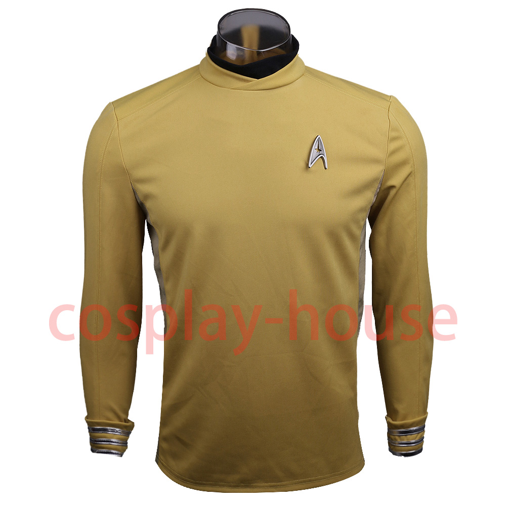Star Trek Beyond Costume Cosplay Star Trek Yellow Captain Kirk Uniform Spock Uniform Scotty Halloween party Prop (1)